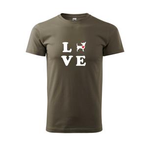 Čivava love - Tričko Basic Extra veľké