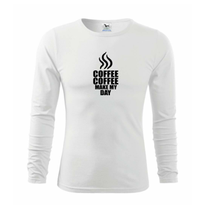 Coffee makes my day - Tričko detské Long Sleeve