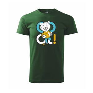 Cool medveď - Tričko Basic Extra veľké