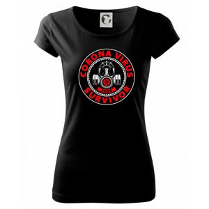 Corona survivor logo - Pure dámske tričko