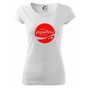 Corona virus pandemic logo - Pure dámske tričko