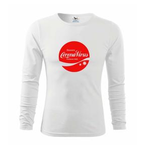 Corona virus pandemic logo - Tričko s dlhým rukávom FIT-T long sleeve
