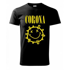 Corona žlté logo - Tričko Basic Extra veľké