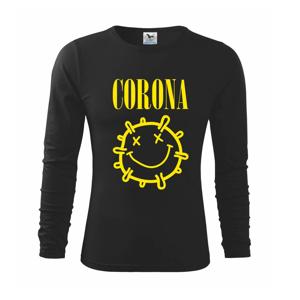 Corona žlté logo - Tričko detské Long Sleeve