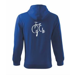 Cycle bicykel - Mikina s kapucňou na zips trendy zipper