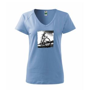 Cyklista čiernobiela cesta - Tričko dámske Dream