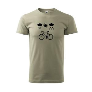 Cyklista za každého počasia - Tričko Basic Extra veľké