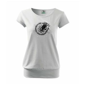 Cyklo kotúčová brzda čiernobiela - Voľné tričko city