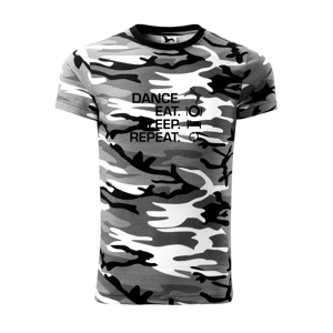 Dance eat sleep repeat - chlapec - Army CAMOUFLAGE