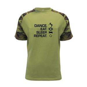 Dance eat sleep repeat - chlapec - Raglan Military