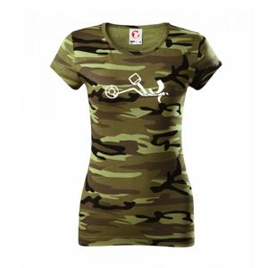 Detektor - Dámske maskáčové tričko