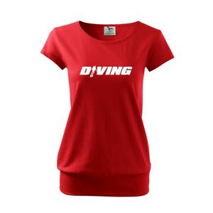 Diving nápis potápač - Voľné tričko city
