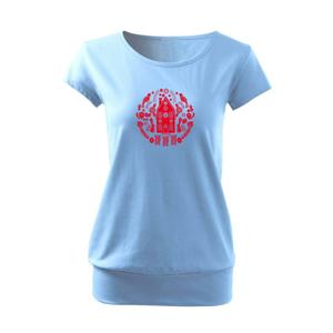 Domov so zajacmi folklór - Voľné tričko city