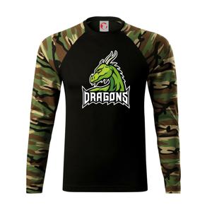 Dragons - logo týmu zelená (Hana-creative) - Camouflage LS