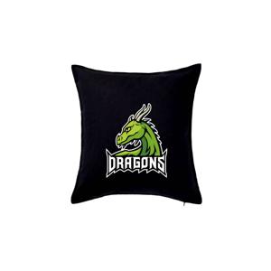 Dragons - logo týmu zelená (Hana-creative) - Vankúš 50x50