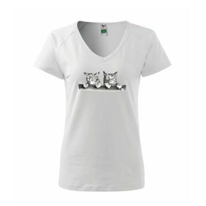 Dve mačiatka na stoličke - Tričko dámske Dream