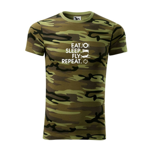 Eat sleep fly repeat - Army CAMOUFLAGE