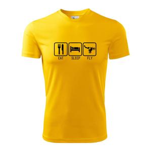 Eat sleep Motocross - freestyle - Detské tričko fantasy športové tričko