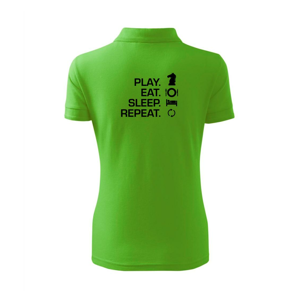 Eat sleep play - šach - Polokošeľa dámska Pique Polo