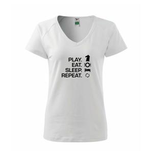 Eat sleep play - šach - Tričko dámske Dream