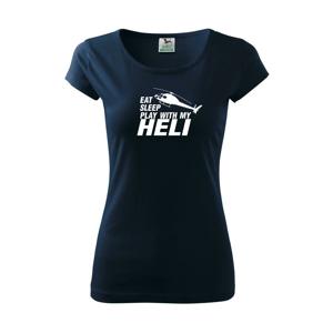 Eat Sleep Play With My Heli - Pure dámske tričko
