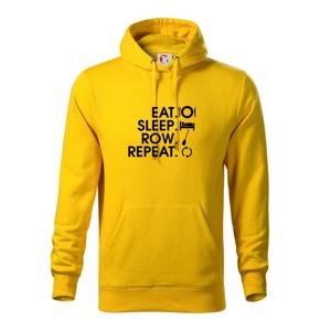 Eat sleep row repeat - Mikina s kapucňou hooded sweater