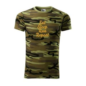 Eat sleep run zlatá - Army CAMOUFLAGE