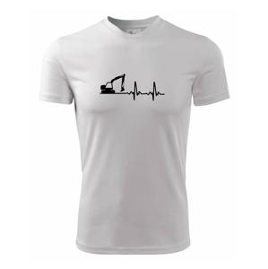 EKG bagr - Pánske tričko Fantasy športové