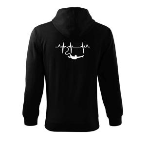 EKG bungee jumping - Mikina s kapucňou na zips trendy zipper