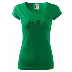 EKG čokoláda - Pure dámske tričko