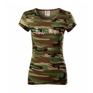 EKG disc golf - Dámske maskáčové tričko