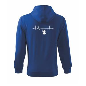 EKG hojdačka - Mikina s kapucňou na zips trendy zipper