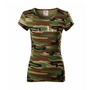EKG kroket - Dámske maskáčové tričko
