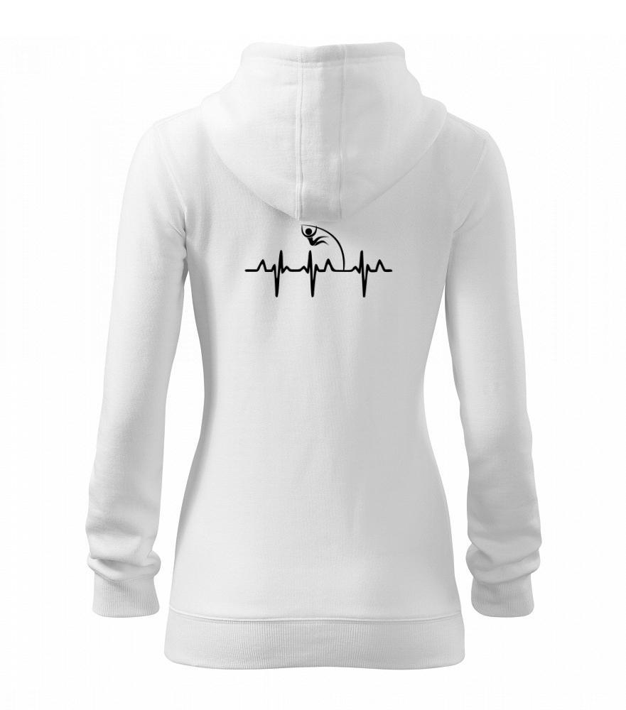 EKG skok o žrdi - Mikina dámska trendy zipper s kapucňou