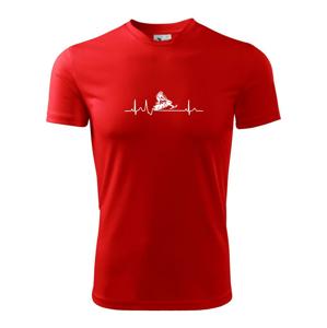 EKG snežný skúter - Pánske tričko Fantasy športové