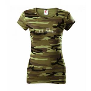 EKG sudca - Dámske maskáčové tričko