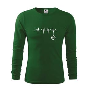 EKG Vianočná ozdoba - Tričko s dlhým rukávom FIT-T long sleeve