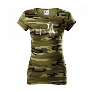 EKG volejbalistky - Dámske maskáčové tričko