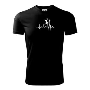 EKG volejbalistky - Detské tričko fantasy športové tričko