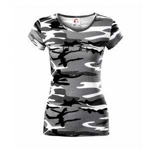 EKG vrh kladivom - Dámske maskáčové tričko