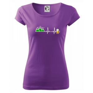 EKG z hôr na pivo - Pure dámske tričko