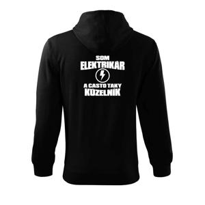 Elektrikár kúzelník - Mikina s kapucňou na zips trendy zipper
