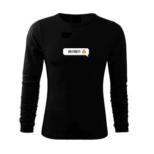 Emoji - on fire - Tričko s dlhým rukávom FIT-T long sleeve