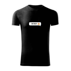 Emoji - on fire - Viper FIT pánske tričko