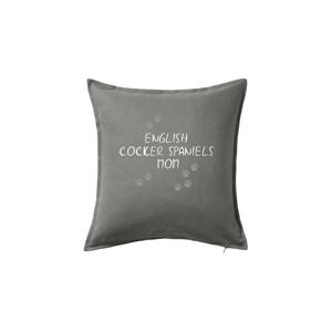 English Cocker Spaniels mom (Anglický kokeršpaniel)  (Reflexné labky) - Vankúš 50x50