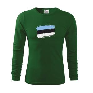 Estónsko vlajka - Tričko s dlhým rukávom FIT-T long sleeve
