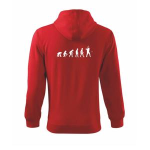Evolúcia baseball pálkar náprah + loptička - Mikina s kapucňou na zips trendy zipper