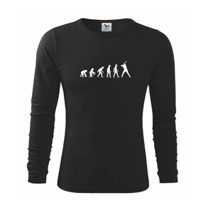 Evolúcia baseball pálkar náprah - Tričko detské Long Sleeve