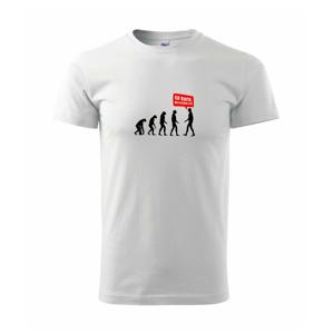 Evolúcia Go back - Heavy new - tričko pánske