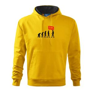 Evolúcia Go back - Mikina s kapucňou hooded sweater